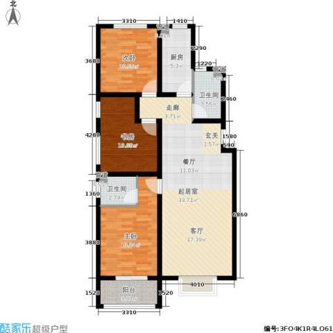 浅山逸景3室0厅2卫1厨121.00㎡户型图