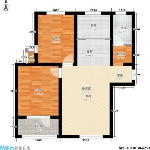 康桥郡2室0厅1卫1厨94.00㎡户型图