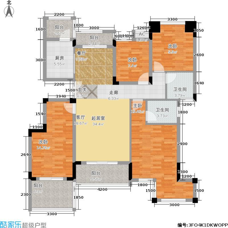正泰玫瑰园132.13㎡洋房三层户型