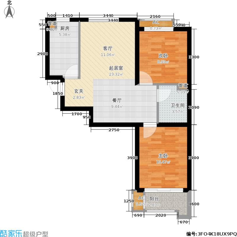 唐诗里A02、A03、A04号楼标准层C户型