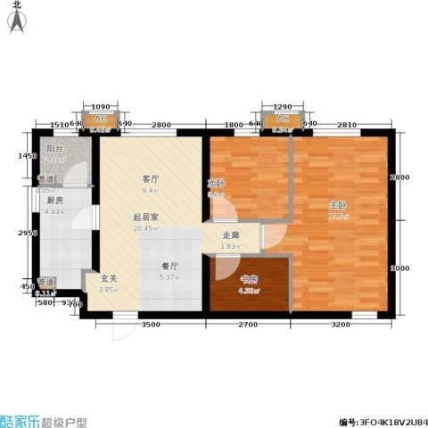万科新里程3室0厅0卫1厨83.00㎡户型图