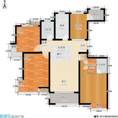 保利御樽苑3室0厅2卫1厨193.00㎡户型图