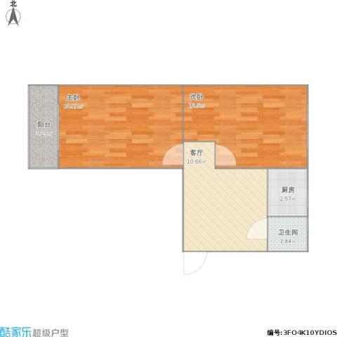 环秀中里2室1厅1卫1厨58.00㎡户型图