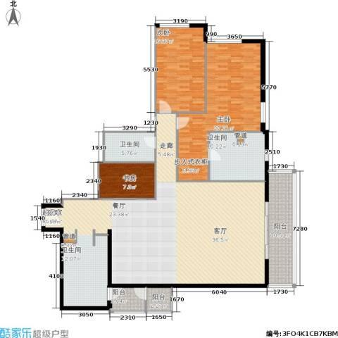 世茂宫园3室0厅2卫0厨186.00㎡户型图