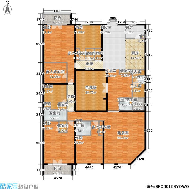 九号公寓425.17㎡C标准层面积42517m户型