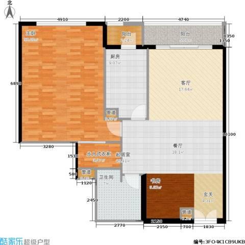 世茂宫园1室0厅1卫1厨148.00㎡户型图