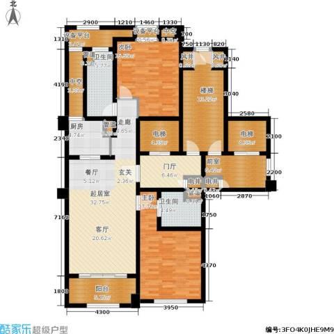 绿城玉兰花园・御园2室0厅2卫1厨135.00㎡户型图