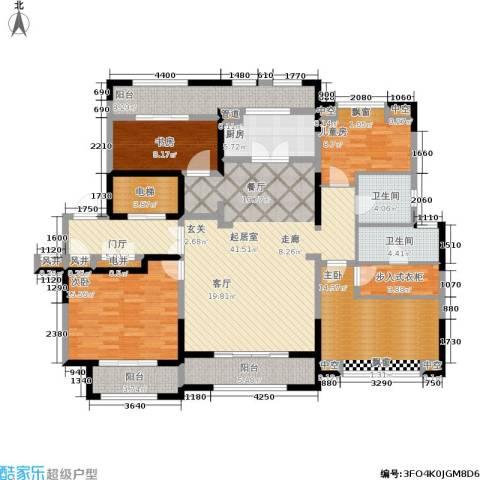 大华诺斐湾4室0厅2卫1厨166.00㎡户型图