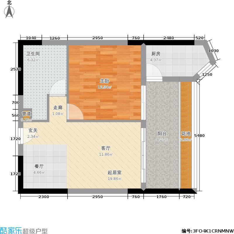 阳光上东国际公寓65.60㎡阳光・上东国际公寓户型