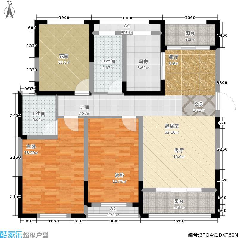 江南星城123.91㎡一期3#楼标准层G户型