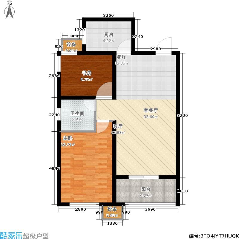 和美鑫苑88.00㎡5#楼标准层C2已售完户型