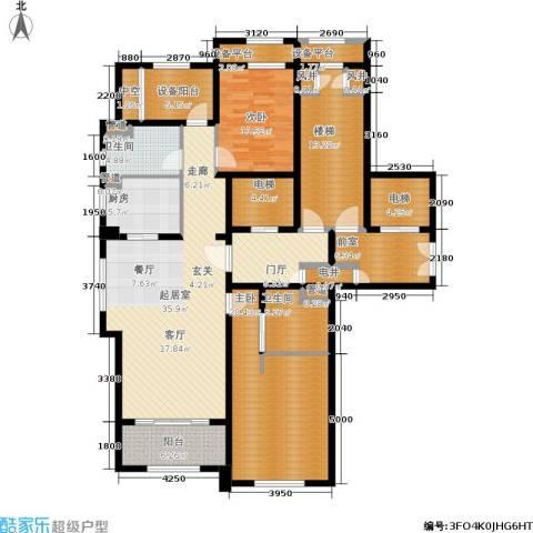 绿城玉兰花园・御园2室0厅2卫1厨137.10㎡户型图