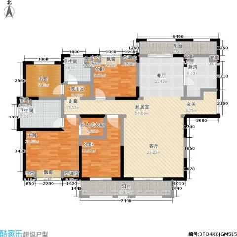 大华诺斐湾4室0厅2卫1厨160.00㎡户型图
