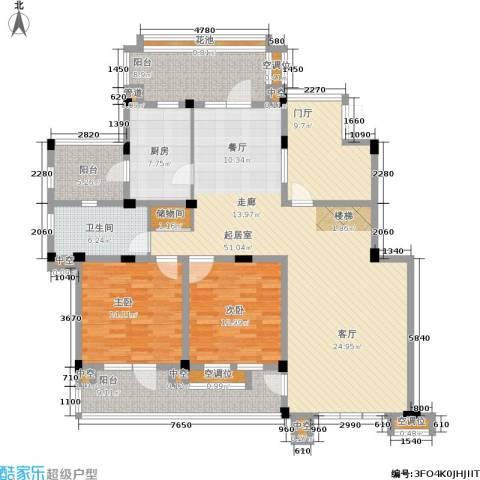 嘉宝紫提湾2室0厅1卫1厨152.00㎡户型图