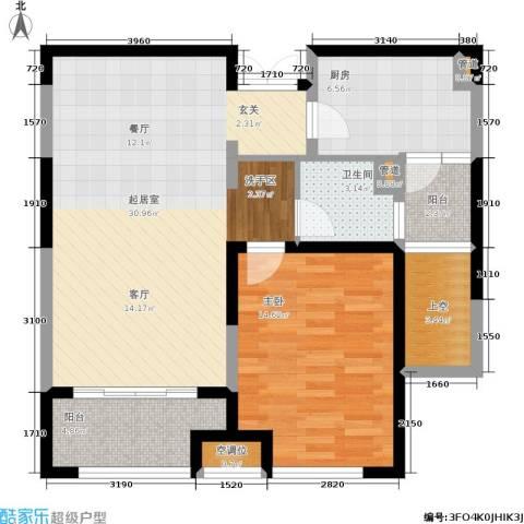 嘉宝紫提湾1室0厅1卫1厨78.00㎡户型图