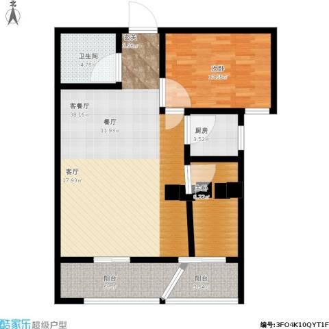旭阳幸福里2室1厅1卫1厨112.00㎡户型图