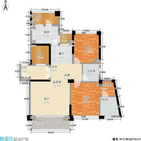 古北大成公馆2室0厅2卫1厨124.00㎡户型图