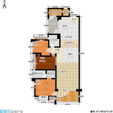 明园森林都市三期涵翠苑3室0厅2卫0厨148.00㎡户型图