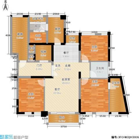 古北大成公馆4室0厅2卫1厨124.00㎡户型图