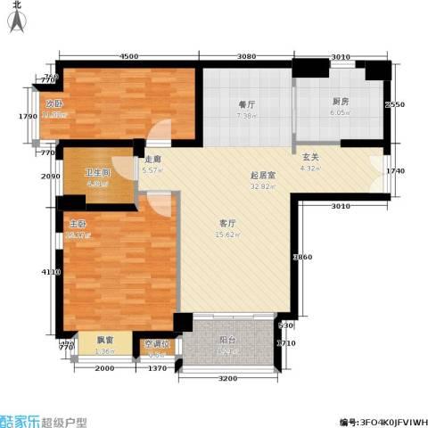 明园森林都市三期涵翠苑2室0厅1卫1厨85.00㎡户型图