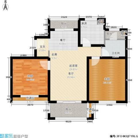 绿洲香格丽花园2室0厅1卫1厨94.00㎡户型图