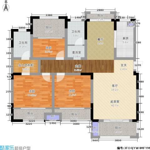 嘉乐城3室0厅2卫1厨127.00㎡户型图