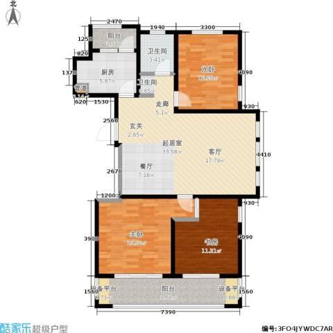 和融优山美地公馆3室0厅1卫1厨106.00㎡户型图