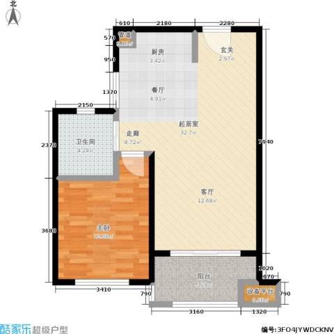和融优山美地公馆1室0厅1卫0厨62.00㎡户型图