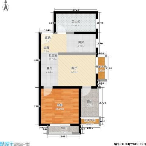 和融优山美地公馆1室0厅1卫0厨54.00㎡户型图
