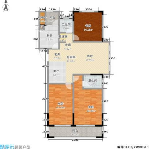 和融优山美地公馆3室0厅2卫1厨130.00㎡户型图