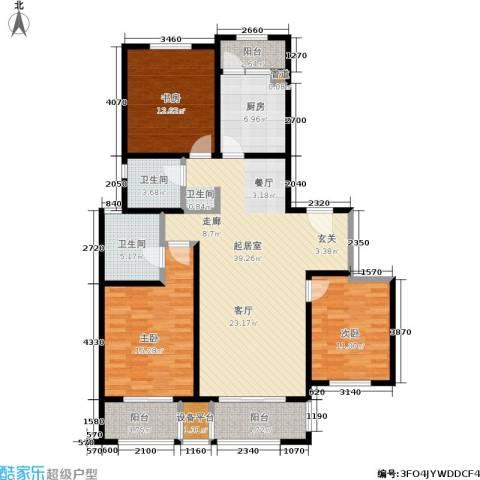 和融优山美地公馆3室0厅2卫1厨121.00㎡户型图