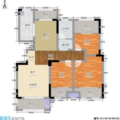 嘉乐城3室0厅1卫1厨112.00㎡户型图