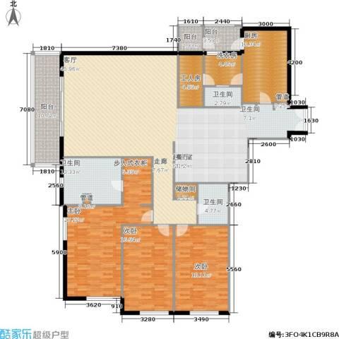 世茂宫园3室0厅3卫1厨221.00㎡户型图