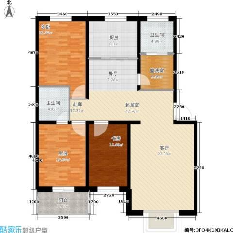 悦正碧林湾3室0厅2卫1厨165.00㎡户型图