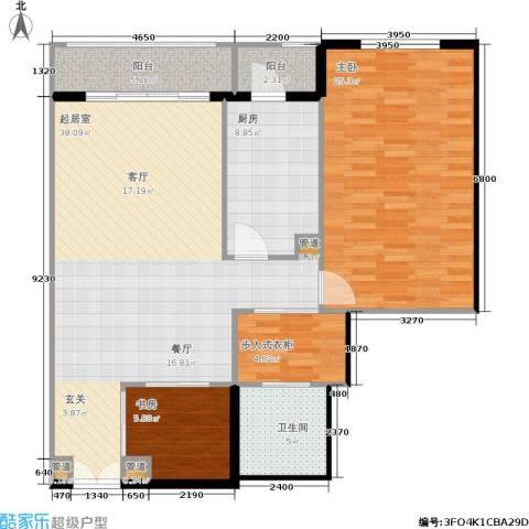 世茂宫园2室0厅1卫1厨131.00㎡户型图