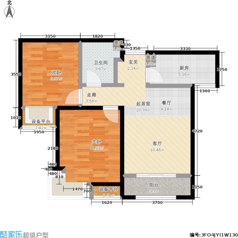 天地源欧築189883.73㎡天地源欧�1898一期5、6号楼标准层B户型