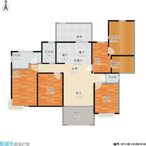 金铭福邸四期4室1厅3卫1厨165.00㎡户型图