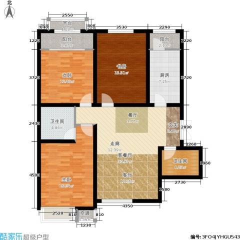 宇泰泰悦3室1厅2卫1厨114.00㎡户型图