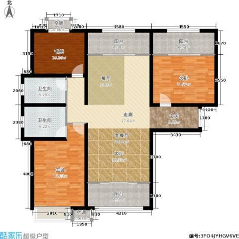 宇泰泰悦3室1厅2卫0厨140.00㎡户型图