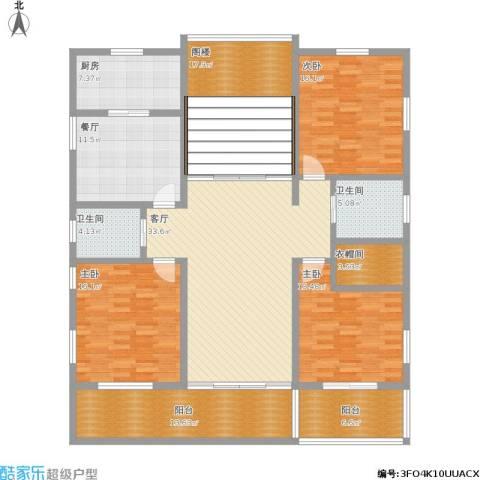 建滔裕景园3室2厅2卫1厨212.00㎡户型图