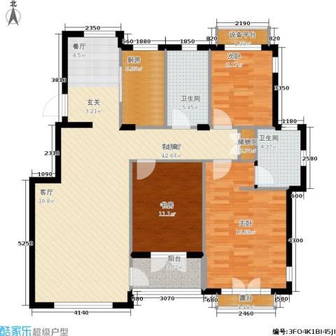 加州海岸3室1厅2卫1厨138.00㎡户型图