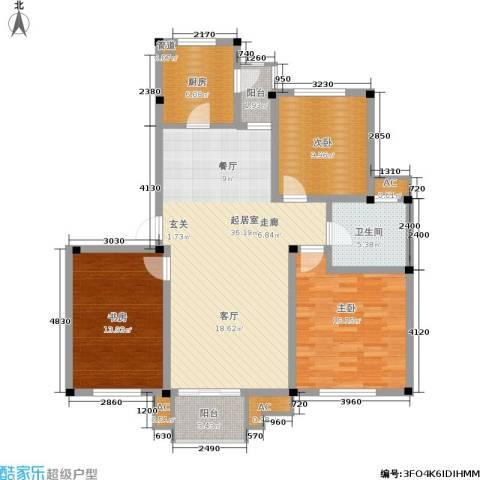海正香醍湾3室0厅1卫1厨108.00㎡户型图