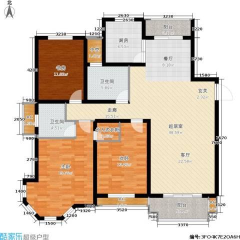海正香醍湾3室0厅2卫1厨143.00㎡户型图