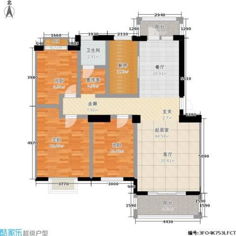 天籁华都3室0厅1卫1厨115.00㎡户型图