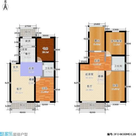 龙腾金荷苑2室0厅2卫1厨143.04㎡户型图