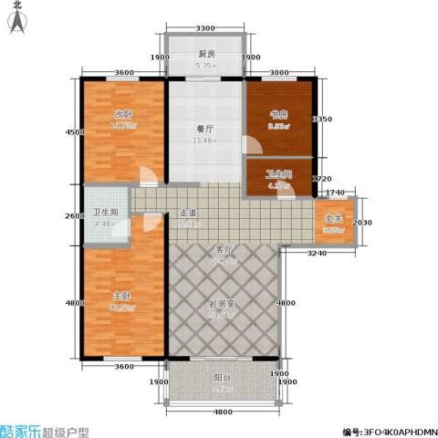 龙腾金荷苑3室0厅2卫1厨142.00㎡户型图