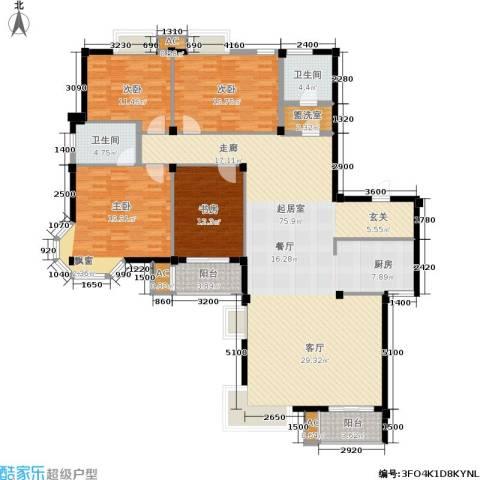 天籁华都4室0厅2卫0厨193.00㎡户型图