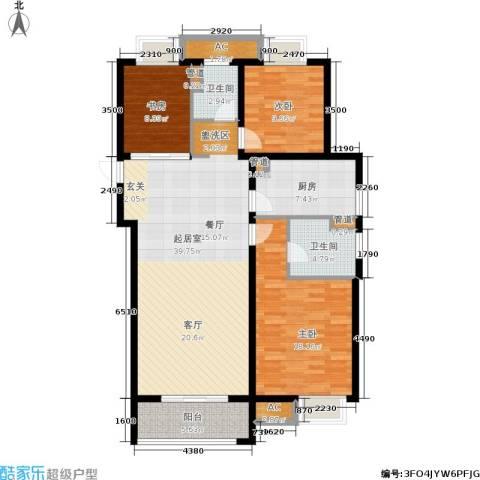 旭辉美澜城3室0厅2卫1厨118.00㎡户型图