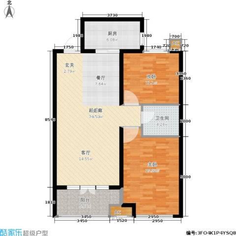 悦水澜庭2室0厅1卫1厨112.00㎡户型图