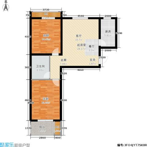 悦水澜庭2室0厅1卫1厨89.00㎡户型图